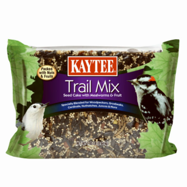 Kaytee® 100528430 Trail Mix Seed Cake with Mealworms & Fruits, 1.85 Lbs