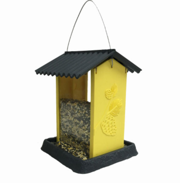 North States™ 9212 Yellow Pinecone Plastic Birdfeeder, 4.25 lbs Capacity