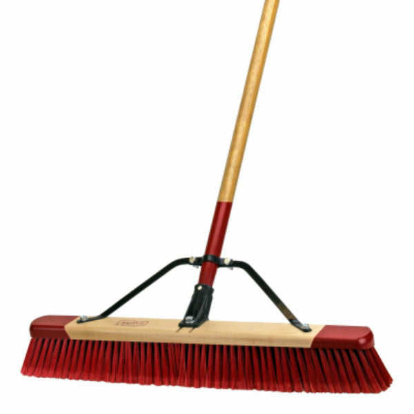 "Harper® 3424A Assembled Medium Debris Push Broom, 24"", 3"" Trim Length"