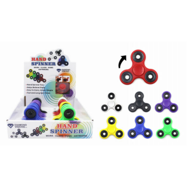 Diamond Visions TM-2000 Colored Fidget Spinner for All Ages, Assorted Colors