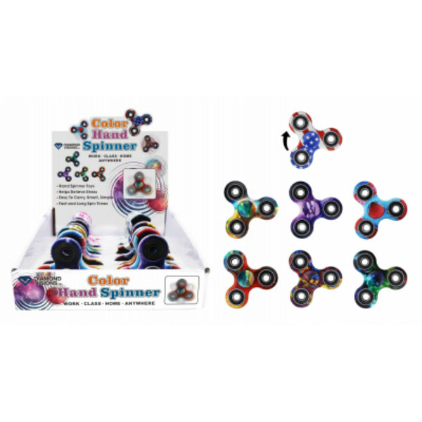 Diamond Visions TM-2011 Color Hand Fidget Spinner, Assorted Designs