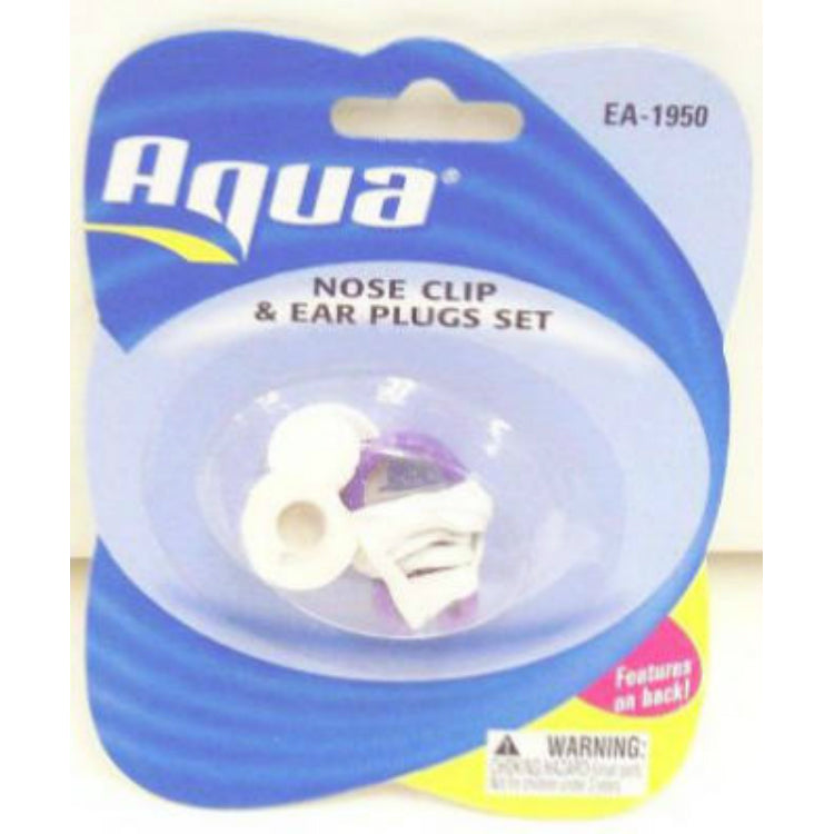 Aqua™ AQA1951 Nose Clip & Ear Plug Set