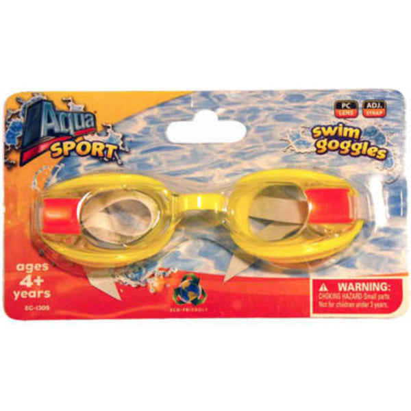 Aqua Sport® AQG13327A Deluxe Junior Free Style Swim Goggles, Assorted Colors