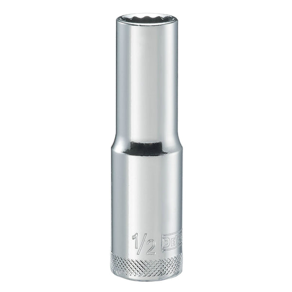 "DeWalt® DWMT74536OSP Polished Chrome Vanadium Deep Sockets, 1/2"" Drive, 1/2"""