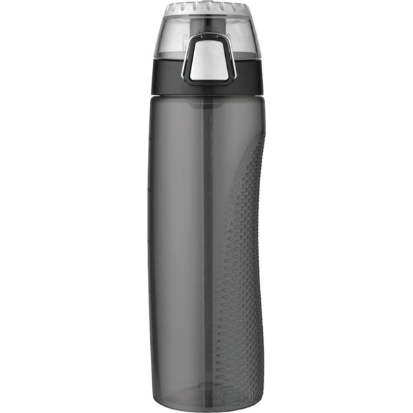 Thermos® HP4100SMTRI6 Hydration Bottle w/ Rotating Meter on Lid, Smoke, 24 Oz