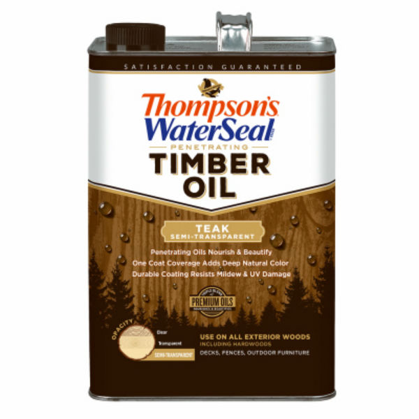 Thompson's WaterSeal 048831-16 Penetrating Semi-Transparent Timber Oil,Teak,1-Gal