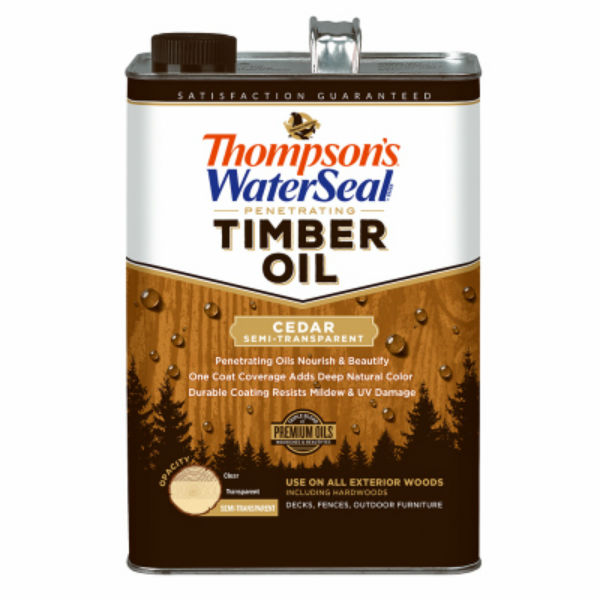Thompson's WaterSeal 048861-16 Penetrating Semi-Transparent Timber Oil,Cedar,1-Gal
