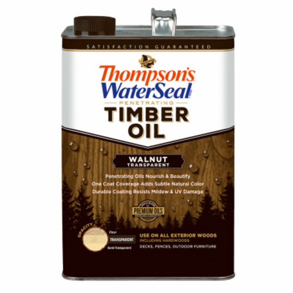 Thompson's WaterSeal 049841-16 Penetrating Transparent Timber Oil, Walnut, 1-Gal