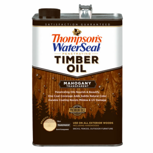Thompson's WaterSeal 049851-16 Penetrating Transparent Timber Oil,Mahogany,1-Gal