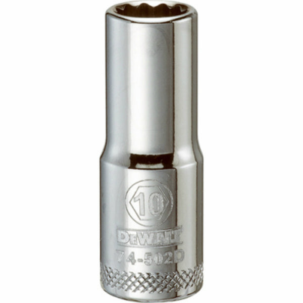 "DeWalt® DWMT74502OSP Polished Chrome Vanadium Deep Metric Sockets, 3/8"", 10 mm"