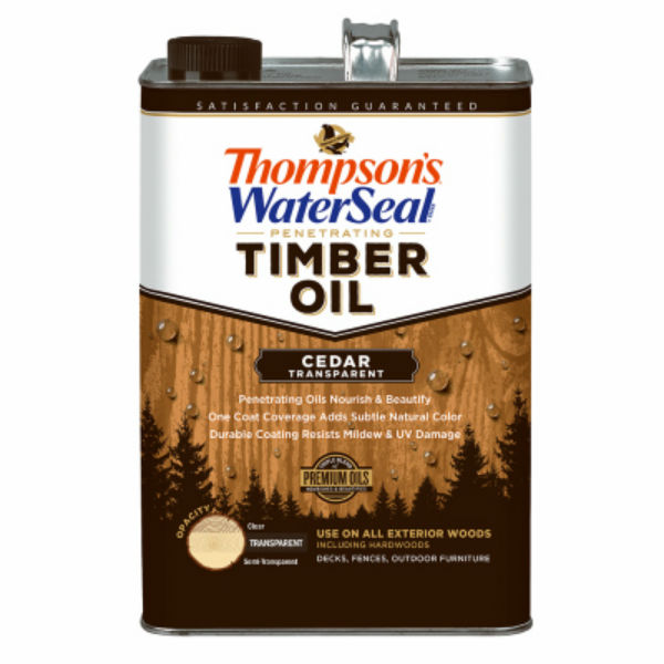 Thompson's WaterSeal® 049861-16 Penetrating Transparent Timber Oil, Cedar, 1-Gal
