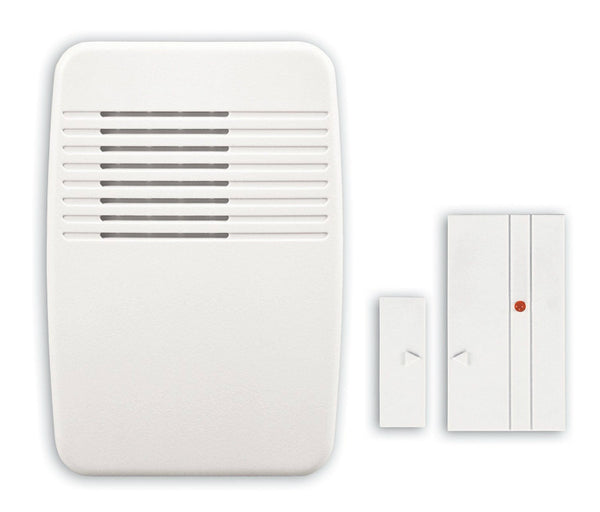 Heath Zenith® SL-7368-02 Wireless Entry Alert Kit w/3-Sound Options, White Cover