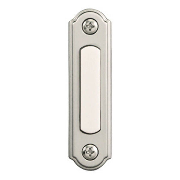 Heath Zenith® SL-256-02 Wired Push Button with Nickel Finish, Lighted, Metal
