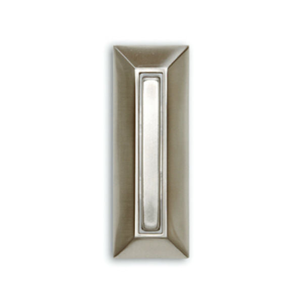 Heath Zenith® SL-753-02 Wired Push Button with Nickel Finish, Lighted, Metal