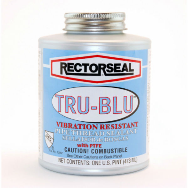 RectorSeal® 31431 Tru-Blu™ PTFE Enriched Pipe Thread Sealant, 0.53 Cu.Ft, 1-Pt