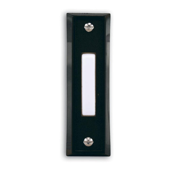 Heath Zenith® SL-664-02 Wired Push Button with Black Finish, Plastic