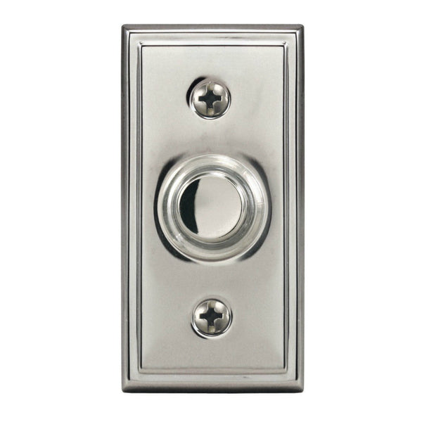 Heath Zenith® SL-631-02 Wired Push Button with Nickel Finish, Lighted, Metal