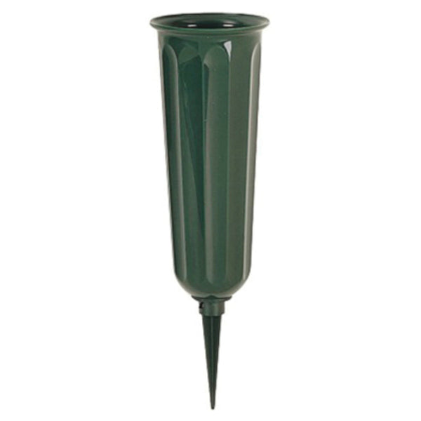 Novelty 05011 Round Bottom Plastic Cemetery Vase, Green