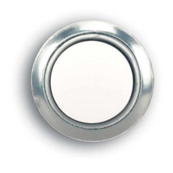 Heath Zenith® SL-604-02 Silver Wired Push Button with Pearl Center, Lighted
