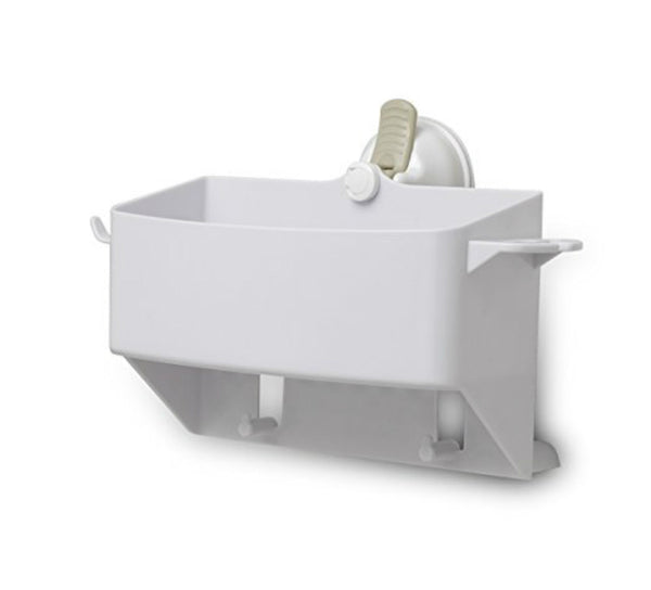 Mommy's Helper™ 12221 Safe-Er-Grip™ Tub Organizer w/ Razor Hook, White