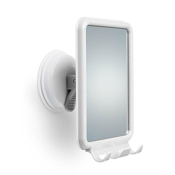 Mommy's Helper™ 10161 Safe-Er-Grip™ Shower Mirror w/ 2-Hooks for Razors, White