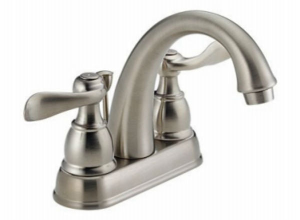 Delta Faucet B3596lf Windemere Polished Chrome Two Handle: Delta 25996LF-BN-ECO Windemere Two Handle Centerset