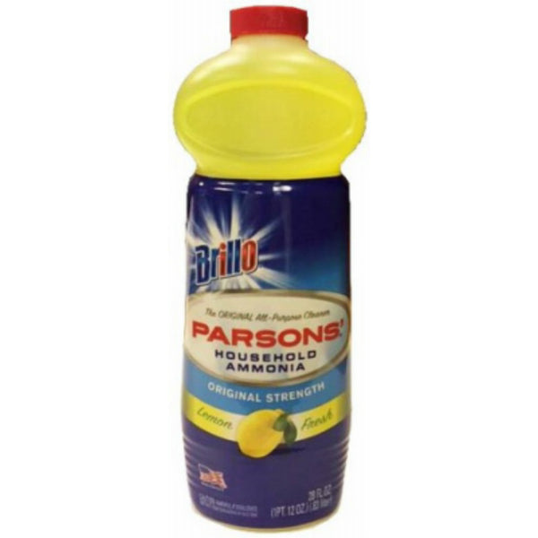 Brillo® 33128 Parsons Original Strength Household Ammonia, Lemon, 28 Oz