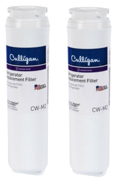 Culligan® 108218 Refrigerator Replacement Water Filter, CW-M2, 2-Pack