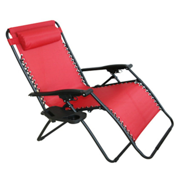 Four Seasons RXTV-1825-XL-R Verona Steel Zero Gravity Chair, Red, X-Large