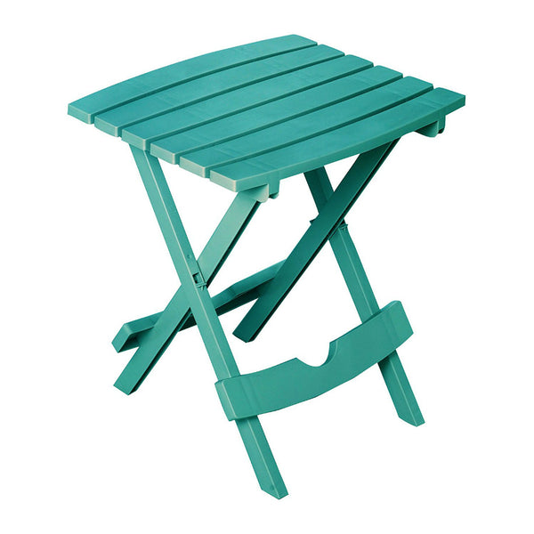 Adams® 8500-94-3937 Quik-Fold® Polypropylene Side Table, Teal, Hold Upto 25 Lbs