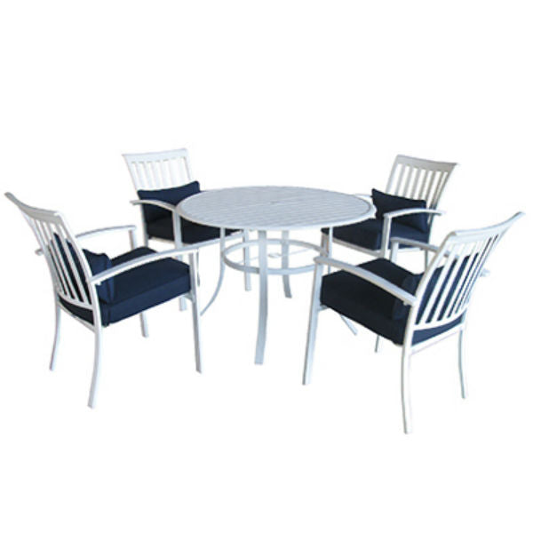Four Seasons Courtyard 17S0855B Haven White Dining Set, 5-Piece
