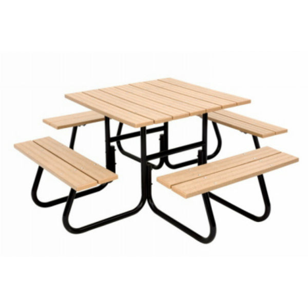 Jack-Post® FC-4411 Round 4-Sided Tubular Picnic Table, 1500 Lbs