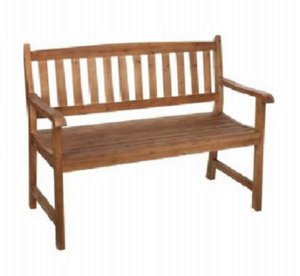 Jack-Post® JN-204NC Jennings Cyprus Wood Traditional Stationary Bench, 500 Lbs