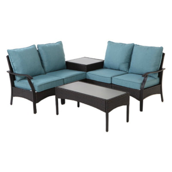 Four Seasons Courtyard 710-217-000 Sanibel Sectional Seating Set, 6-Piece