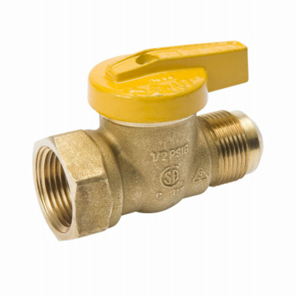 "ProLine® 114-543 Flare X Female Forged Brass Gas Ball Valve, 15/16"" x 1/2"""