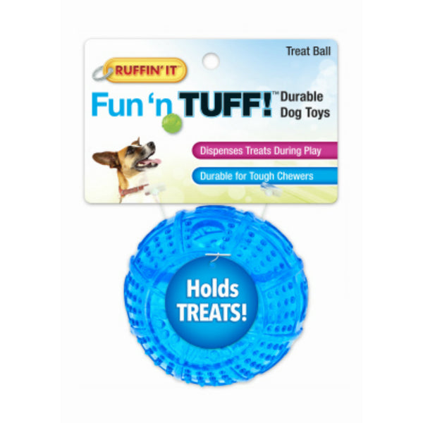 Ruffin' It 80592 Fun 'N Stuff Treat Ball Durable Dog Toy, Assorted Colors