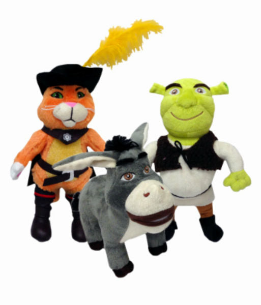 Multipet 37058 Shrek Plush Dog Toy, Assorted, 1-Qty
