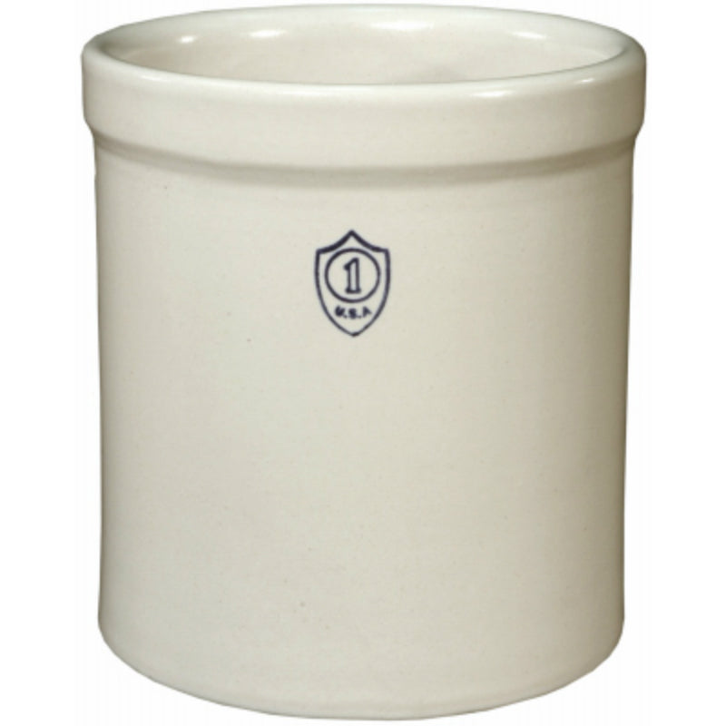 Ohio Stoneware® 02429 Bristol Preserving Crocks, White, 1-Gallon