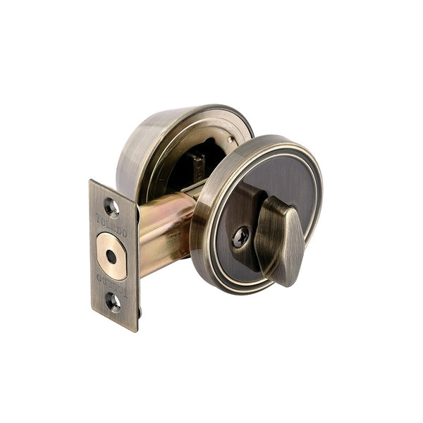 Toledo V1800US3 Single Cylinder Deadbolt with 3-Keys, Antique Brass