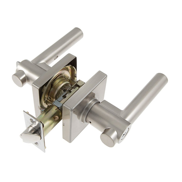 Toledo CV1900GIUS15 European Straight Lever Entry Lockset, Satin Nickel
