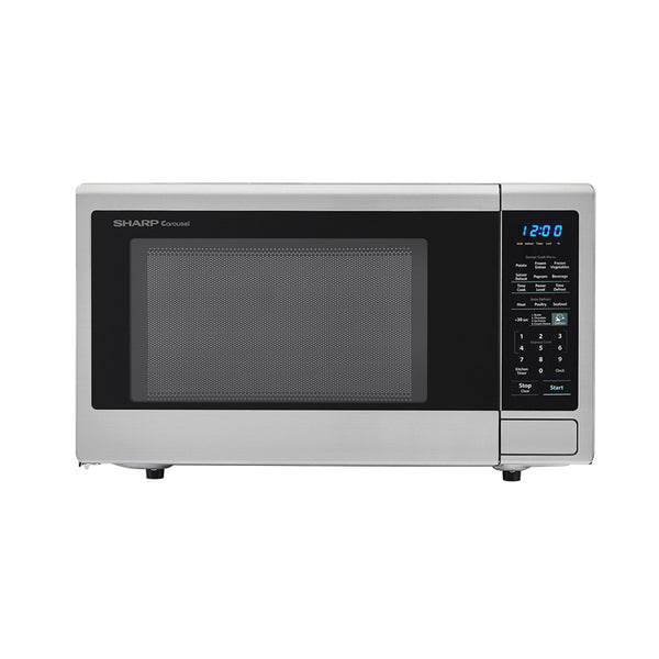 Sharp SMC1842CS Carousel Countertop Microwave Oven, St-Steel, 1100W, 1.8 Cu. Ft.