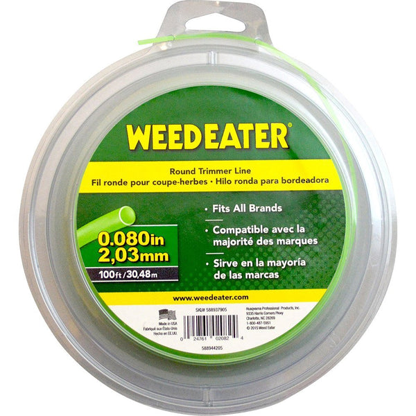 "Weed Eater® 588937905 Round Trimmer Line Replacement Coil, 0.080"" x 100'"