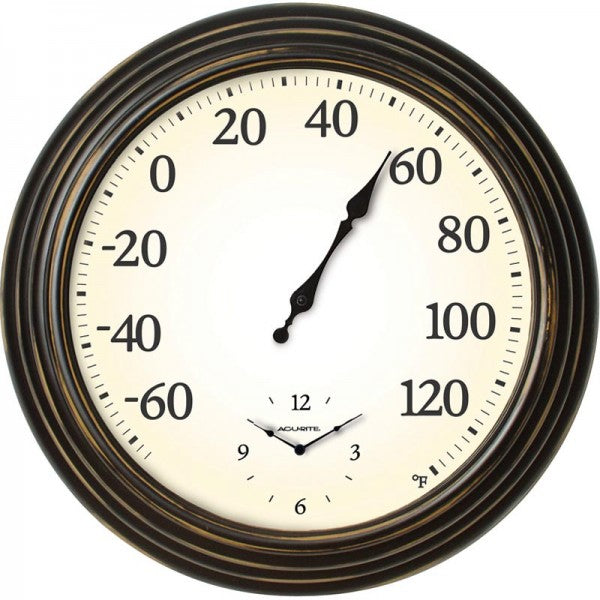 AcuRite® 00780A1 Indoor / Outdoor Thermometer with Clock, -60 to 130° Fahrenheit