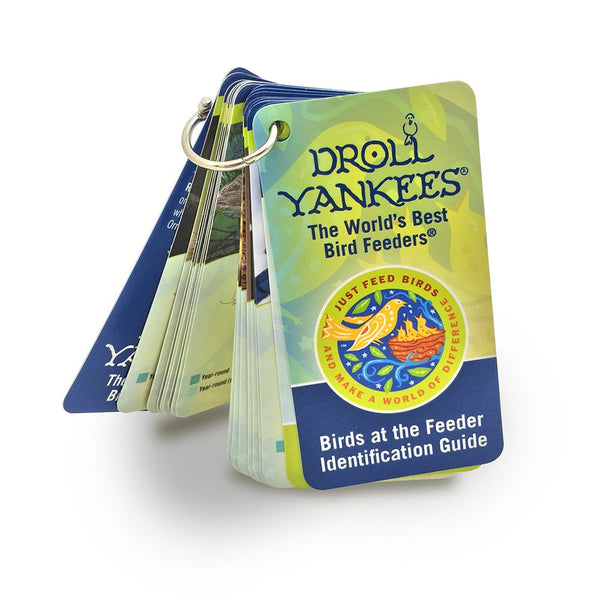 Droll Yankees® JFB-IDBK-O Birds-At-The-Feeder Identification Guide w/ Clip Strip