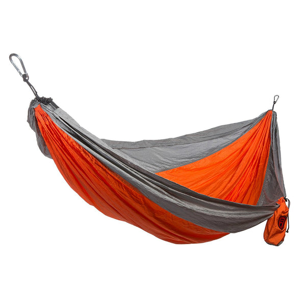 Grand Trunk® DH-08 Double Parachute Nylon Hammock, Orange/Silver, 400 Lbs