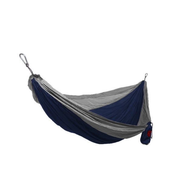 Grand Trunk® DH-03 Double Parachute Nylon Hammock, Navy/Silver, 400 Lbs Capacity