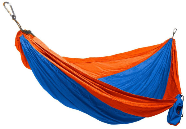 Grand Trunk® DH-27 Double Parachute Nylon Hammock, Orange/Blue, 400 Lbs Capacity