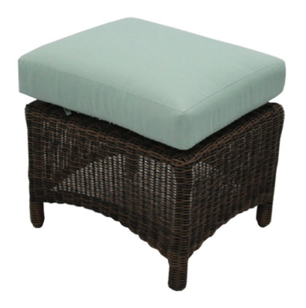 Four Seasons Courtyard BGH05508H60 Bermuda Ottoman Woven Wicker w/ Steel Frames