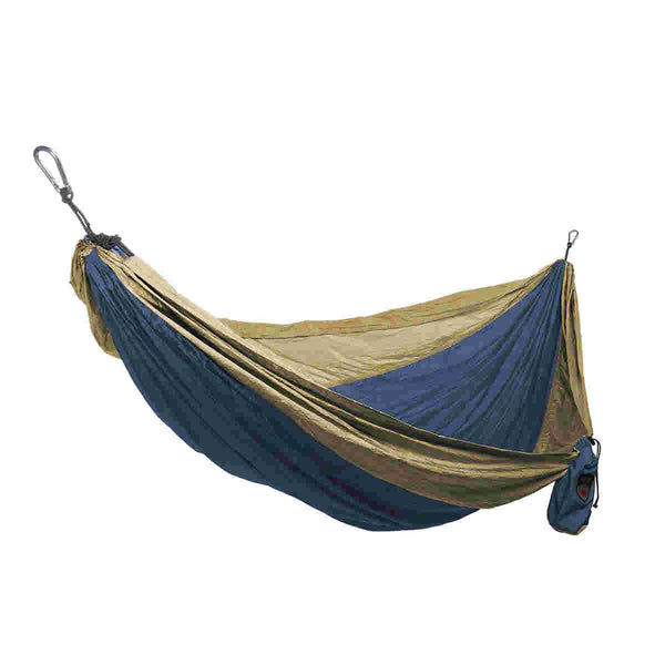 Grand Trunk® SH-06 Single Parachute Nylon Hammock, Royal Khaki, 400 Lbs Capacity