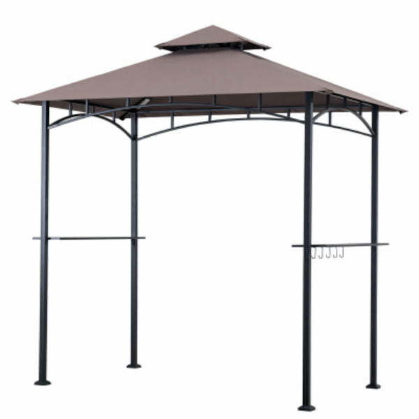 Four Seasons Courtyard L-GZ238PST-11F-NEW Grill Gazebo with 4-LED Lights